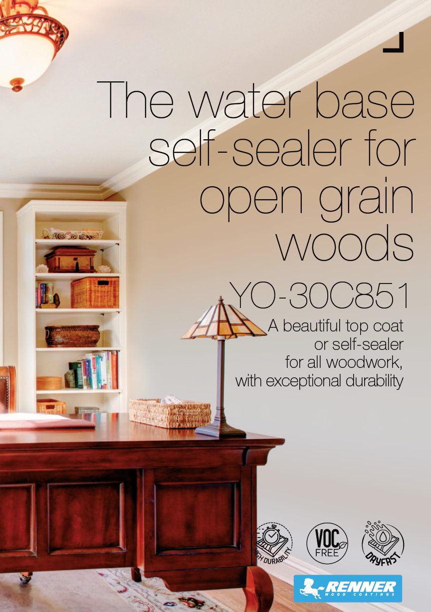 Water Based Self Sealer For Open Grain Woods